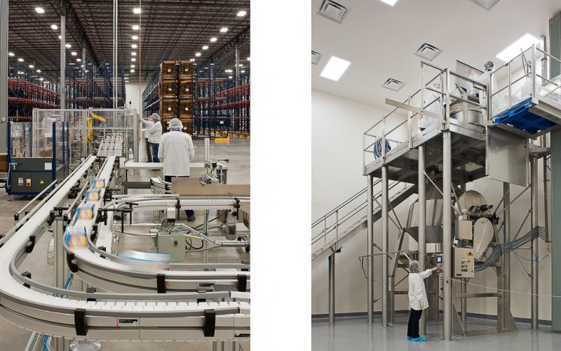 Two photos of pharma production equipment