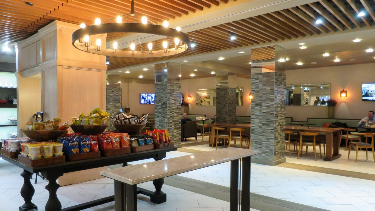 Lobby and dining area