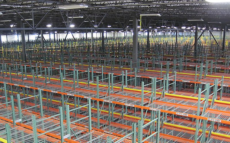 View of racking system