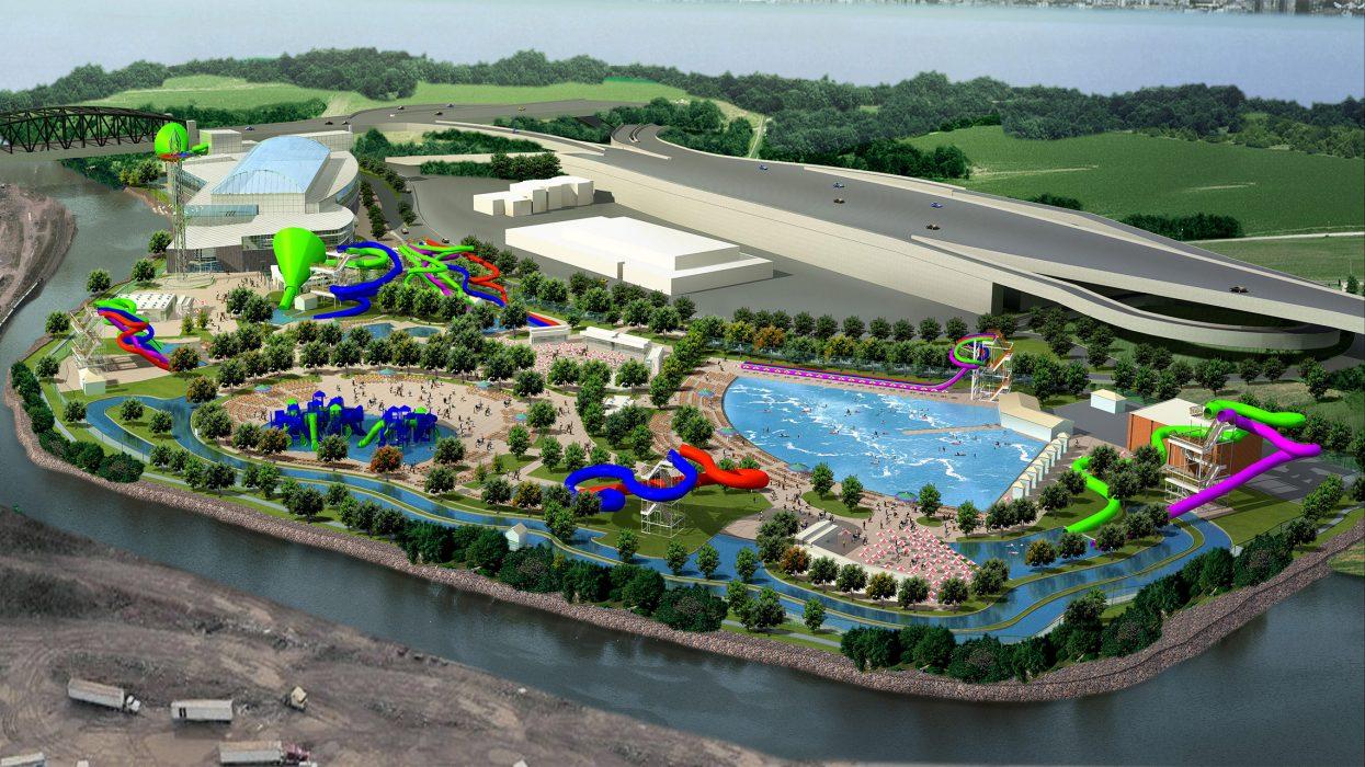 Rendering of water park
