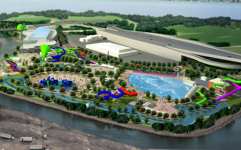 Rendering of water park