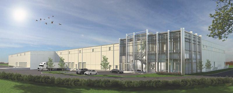 Rendering of new logistics building