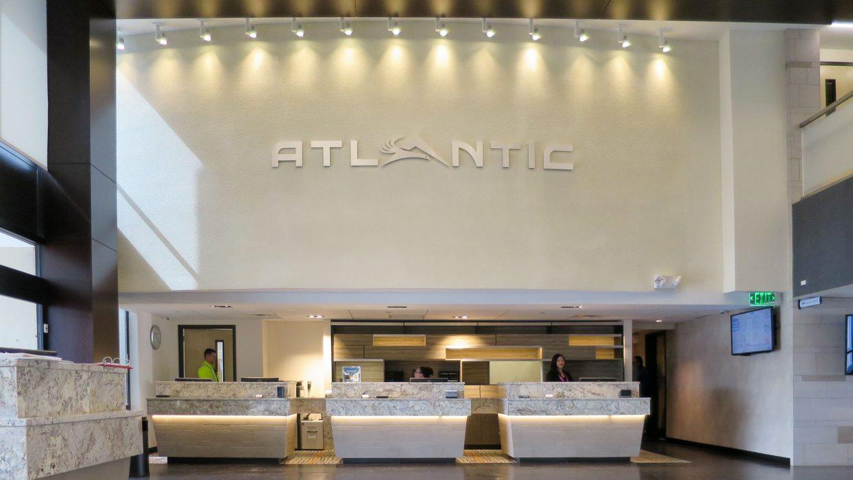 Interior view of Atlantic Air terminal counter