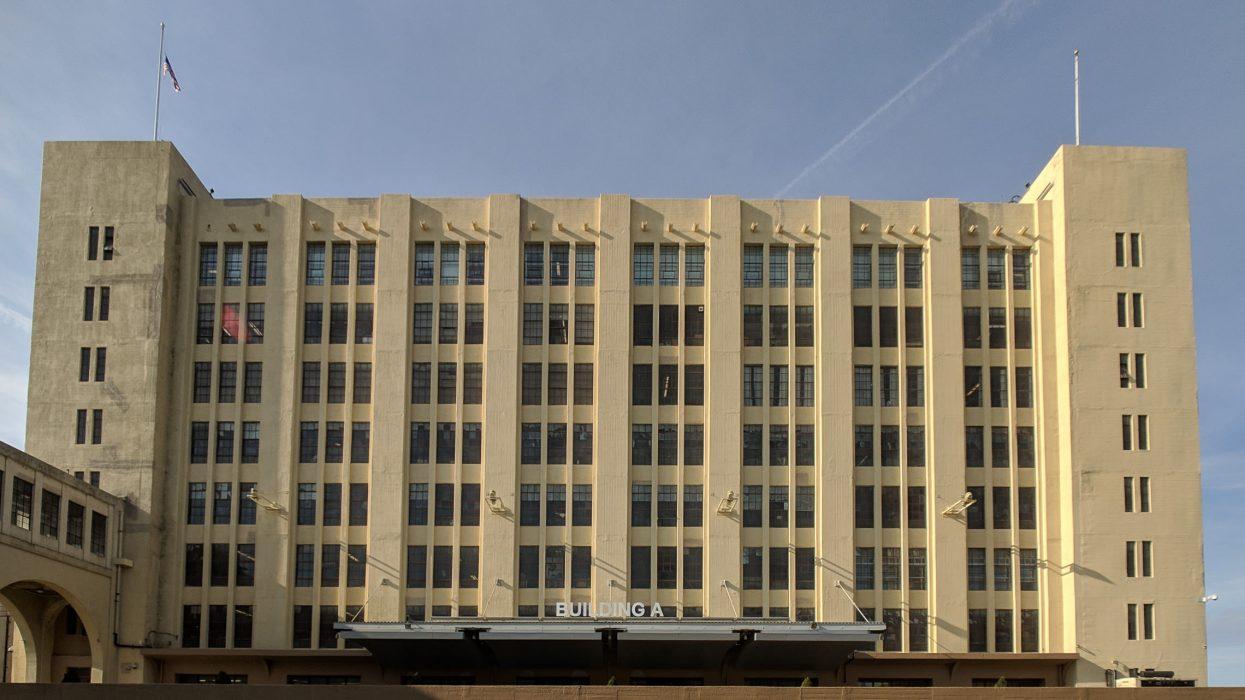 Facade of historic industrial building