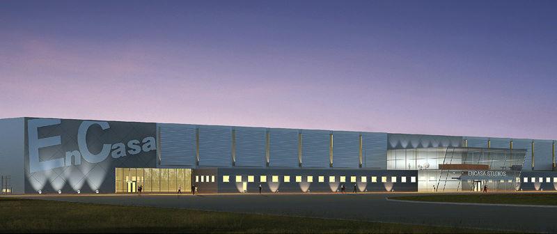 Rendering of proposed film studio