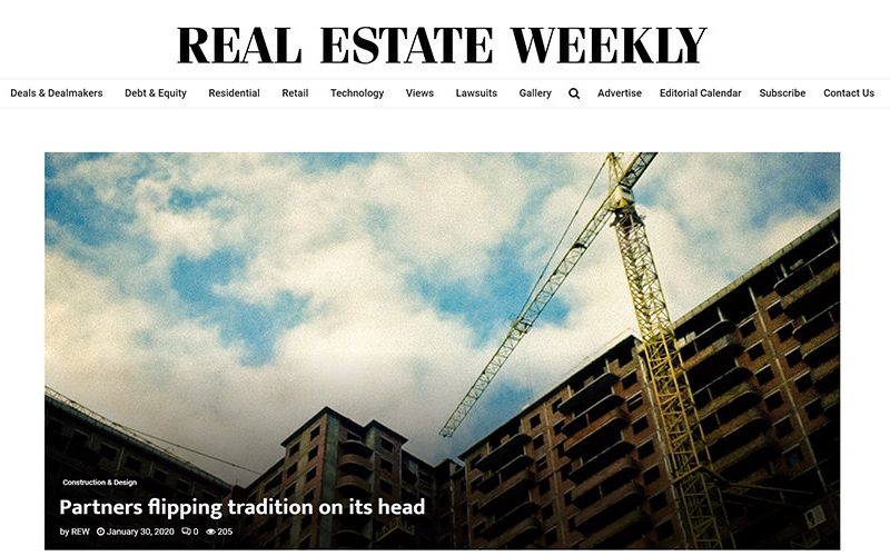 Screen shot of Real Estate Weekly web page