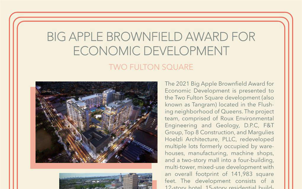 Cropped version of Big Apple Brownfield Award